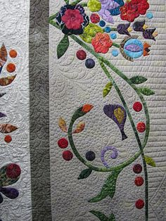 Great idea for quilting my quilt beyond the vine to the edge