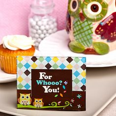 Owl Place Card Holders Frames