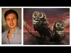 ▶ How to paint fur, feathers and animals! A basic speed painting tutorial of an owl. - YouTube paint anim, paint tutori, painting tutorials, speed paint, feather, how to paint fur