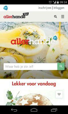 """New website for albert heijn's recipe magazine """"allerhande"""""""