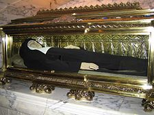 Saint Joaquina Vedruna de Mas, Discalced Carmelite Nun's incorrupt body, buried at the Carmelites of Charity, motherhouse in Vic