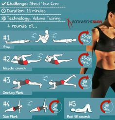 Core exercises.
