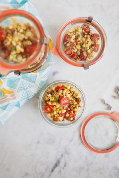 Bacon, Corn, Avocado and Tomato Salad /