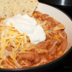 Slow Cooker White Bean Chicken Chili Recipe