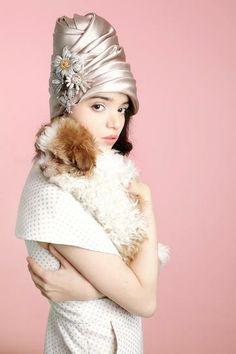 Eric Javits silk turban | StyleCaster