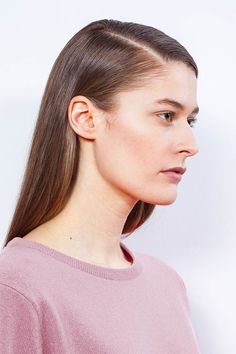 "Arela AW14 collection ""Clement Days"". Laine o-neck cashmere sweater in Kensington rose. Photography Markus Pajuniemi, model Caroline Farneman / Brand, muah Emelie Tuuminen"
