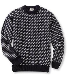 Heritage Sweater, Norwegian Crewneck L.L.Bean - classic