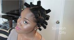 Spiral Bantu Knot Out on Natural Hair