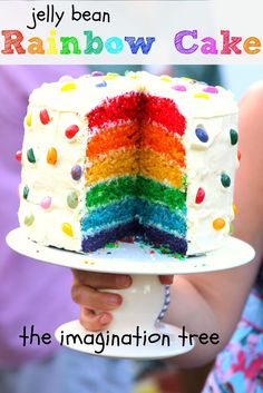 jelly bean rainbow cake (with a really easy recipe!)