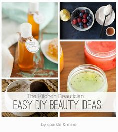 The Kitchen Beautician: Easy DIY Beauty Recipes {thanks to this post, my skin is glowing, my hair is smooth and shiny, and I'm no longer using makeup filled with gross chemicals!}