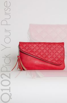 Jessica Simpson - Clutch in Fire Red.   Go to wkrq.com to find out how to play Q102's Pick Your Purse!