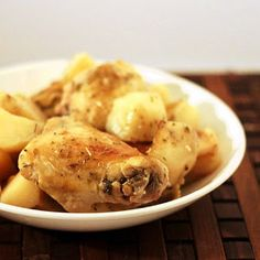 Chicken with Lemon and Herbs - a crockpot recipe