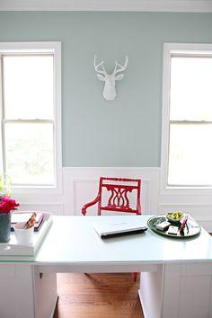Benjamin Moore Palladian Blue <3 wall color :)