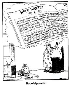 Hopeful parents ~ The Far Side by Gary Larson