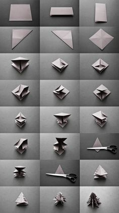 DIY origami christmas tree