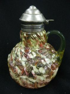 Northwood Victorian Art Glass Syrup Pitcher,