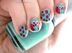 owls!!!! owls on my nails!
