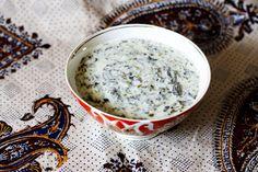 Azerbaijani Yogurt Soup with Fresh Herbs (Dovgha)