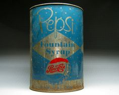 vintage PEPSI COLA one gallon syrup can