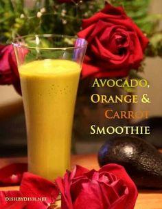Avocado, orange & carrot smoothie