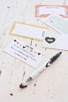 Imprimibles notas para la comida del cole // Free printable lunchbox notes