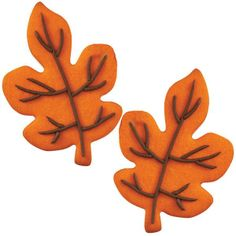 How to decorate autumn leaves cookies with a touch of chocolate icing.