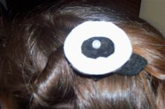 Black and White Rossette Hair Clip by melanieswartz on Etsy, $3.00