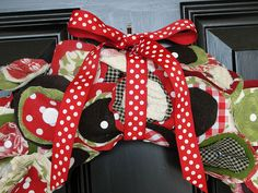 fabric circles wreath