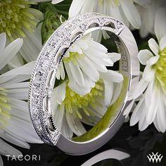 Tacori Reverse Crescent Half Eternity Princess Star Diamond Wedding Ring