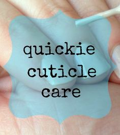 Cuticle Care   Keep cuticles soft and pushed back in seconds.