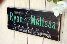 21 - CUSTOM FAMILY ESTABLISHED SIGN - Personalized Wedding Anniversary Gift