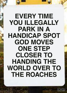 honest info sign handicap spot