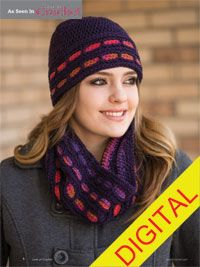 Rocky Mountain Sunset Hat and Cowl Digital Crochet Pattern - from the Fall 2014 Issue of Love of Crochet magazine