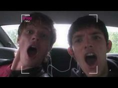 Colin Morgan and Bradley James from Merlin (my favorite TV show) You're the voice - John Farnham . This is hilarious!