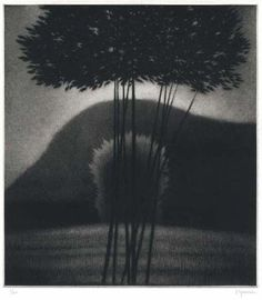 Robert Kipniss: Evening II. Mezzotint, 2008