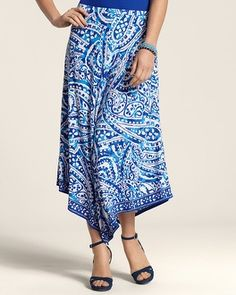 chico's skirts on sale | Handkerchief Hem Paige Skirt