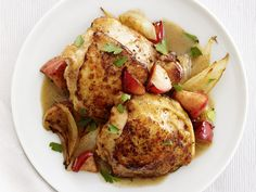 Honey-Mustard Chicken and Apples from #FNMag #myplate #protein #veggies #fruit