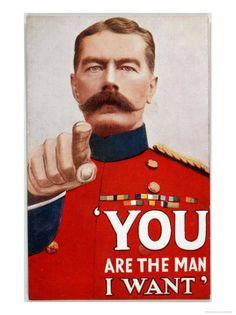 Kitchener Poster Recruitment Poster World War One