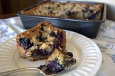 365 Days of Baking and More:  Vanilla-Blueberry Crumb Cake