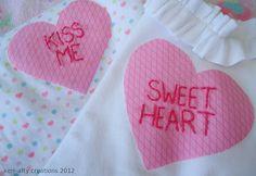 diy heart applique shirts
