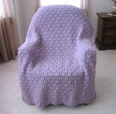 Lavender Lace Throw | FaveCrafts.com