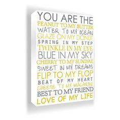 You Are My....#Canvas #Wall #Art