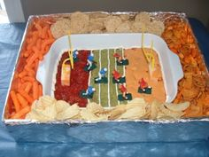 Table Decorations For Football Party | football party