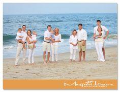 extended family beach portraits