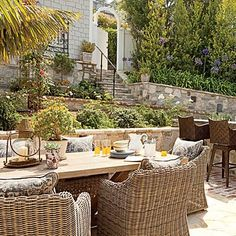 decor, beaches, alfresco, dine, beach cottages, patio, coastallivingcom, deck, backyards