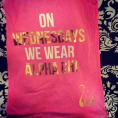 This is our most recent tank order :) You alllllready know what I'm wearing on Wednesdays….Alpha Chi Omega-Theta Psi Chapter/ Columbia University!  submitted by:sleeponstars