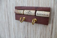 Wine Cork Wall Hanger  reclaimed wood key holder