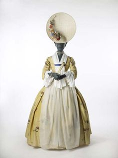 cloth, 18th centuri, flower designs, the dress, day dresses, museum, 1700, apron, hat