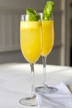 "Peach and Basil ""Bellini"""