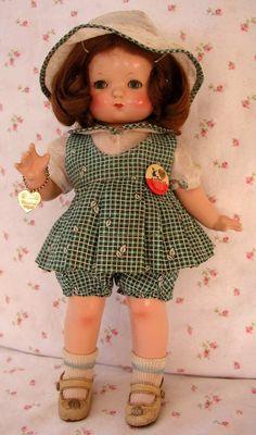 RARE 1933 Effanbee PATSY / Patsy BabyKin Doll VARIANT -- All Original -- w/Hang Tag